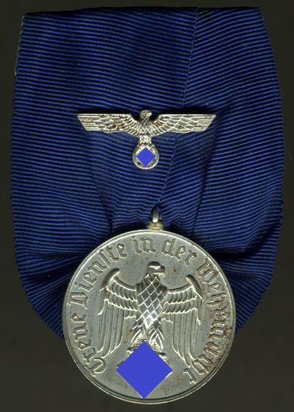 Einzelordensschnalle - Wehrmacht-Dienstauszeichnung (Heer / Kriegsmarine) 4 Jahre