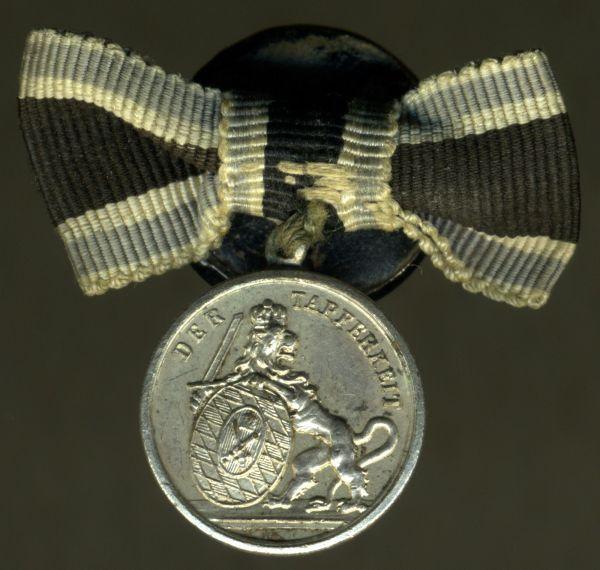 Miniaturdekoration - Bayern, Silberne Tapferkeitsmedaille (Militär-Verdienstmedaille)