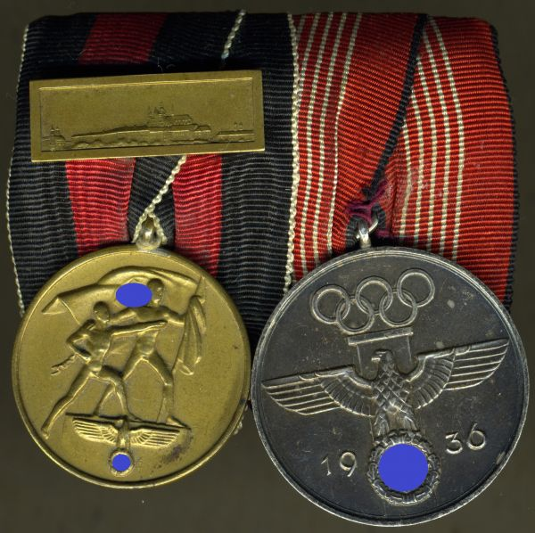 2er Ordensschnalle - Stempel Reich / Breslau