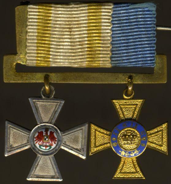 2er Miniatur-Ordensschnalle eines Preußen