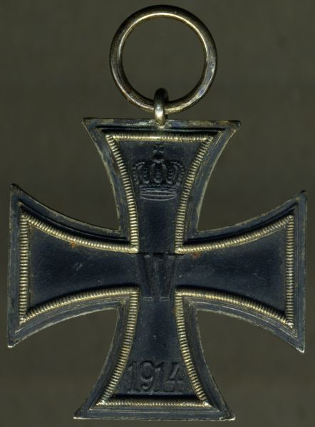 "Eisernes Kreuz 2. Klasse 1914 - Carl Dillenius / Pforzheim - ""CD 800"" (!)"