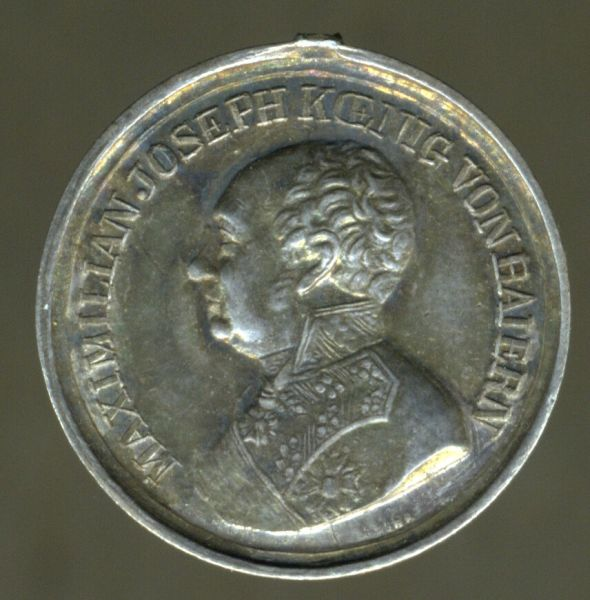 """Miniatur - Bayern, Silberne Tapferkeitsmedaille (Militär-Verdienstmedaille) - """"J. Ries"""""""