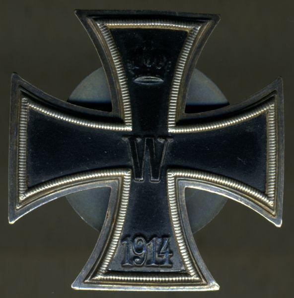 Eisernes Kreuz 1. Klasse 1914 - Schraubscheibe - Carl Dillenius / Pforzheim