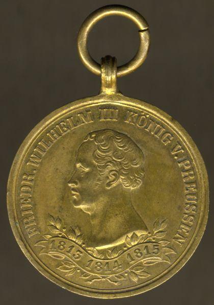 Preußen, Erinnerungs-Kriegsdenkmünze für die Kämpfer von 1813 - 1815