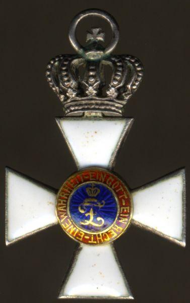 Miniatur - Oldenburg, Haus- & Verdienstorden Ritterkreuz 2. Klasse mit der Krone
