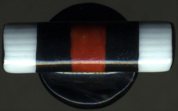 Einzelknopflochdekoration - Ehrenkreuz des Weltkrieges - bemalte Keramik (!)