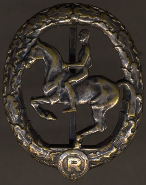 Deutsches Reiterabzeichen in Silber - Chr. Lauer / Nürnberg