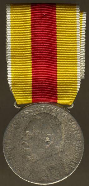 Baden, Silberne Verdienstmedaille (Friedrich II.) am Bande des MKFVO