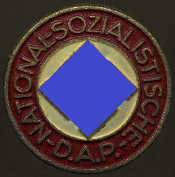 """NSDAP-Mitgliedsabzeichen / """"Parteiabzeichen"""" - Steinhauser & Lück / Lüdenscheid"""