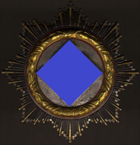 """Deutsches Kreuz in Gold - C.F. Zimmermann / Pforzheim - """"schwer"""""""