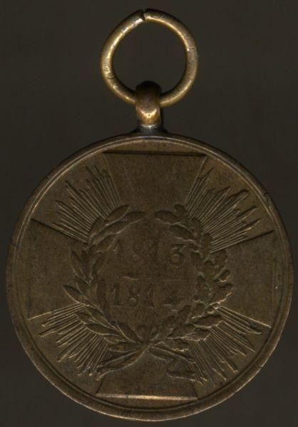 Preußen, Kriegsdenkmünze 1813/14 für Kämpfer