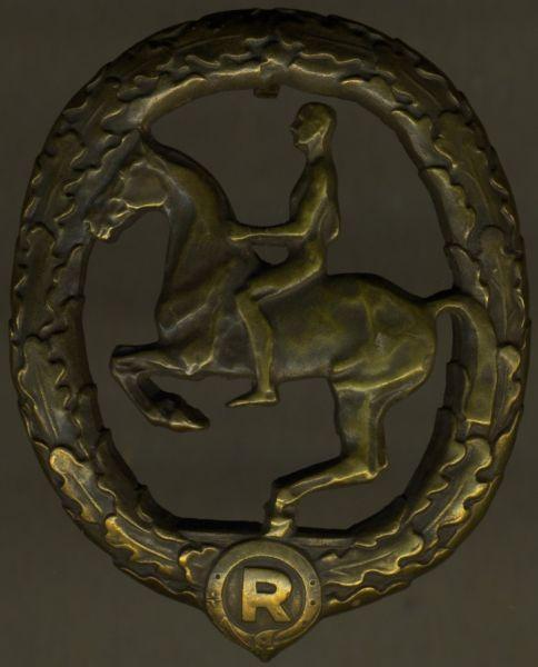 Deutsches Reiterabzeichen in Bronze - Chr. Lauer / Nürnberg