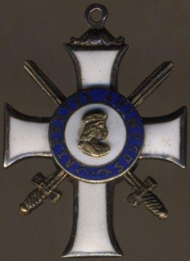 Miniatur - Sachsen, Albrechtsorden Ritterkreuz 2. Klasse mit Schwertern