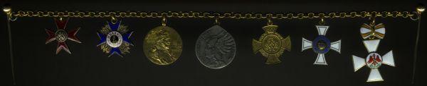 7er Miniaturenkettchen mit Preußen, Bayern & Mecklenburg