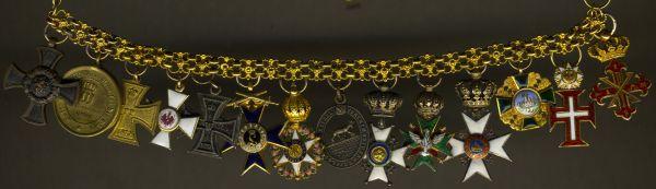 Miniaturenkettchen des Majors Maximilian von Baligand (1839 - 1899)