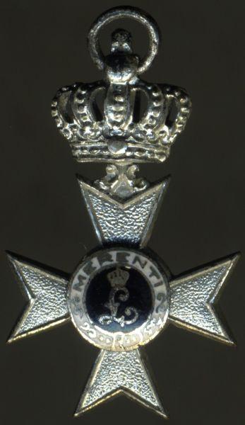 Miniatur - Bayern, Militär-Verdienstkreuz 2. Klasse mit der Krone