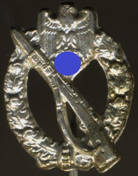 Miniatur - Infanterie-Sturmabzeichen in Silber