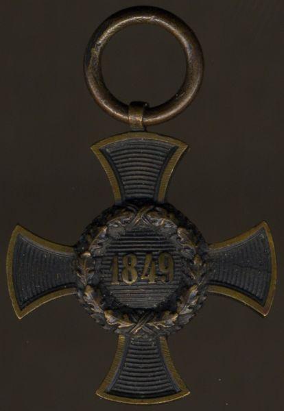 Reduktion / Miniatur - Bayern, Feldzugs-Denkzeichen 1849