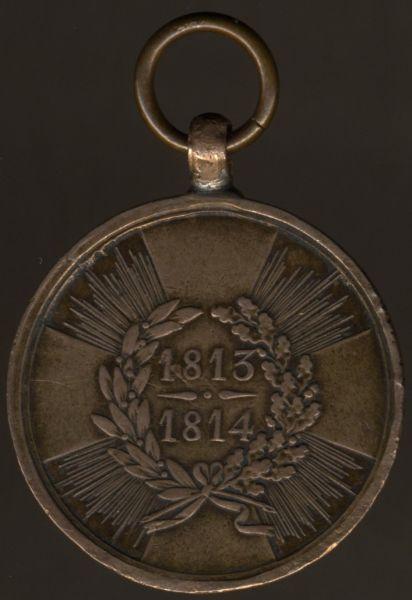 Preußen, Kriegsdenkmünze 1813/14 für Kämpfer (Pariser Prägung)