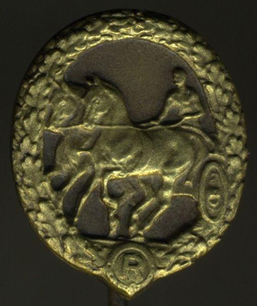 Miniatur - Deutsches Fahrerabzeichen in Bronze - Chr. Lauer / Nürnberg