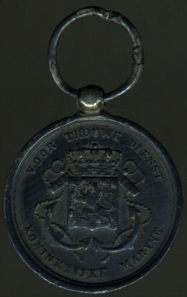 Miniatur - Niederlande, Marine-Dienstauszeichnung in Silber
