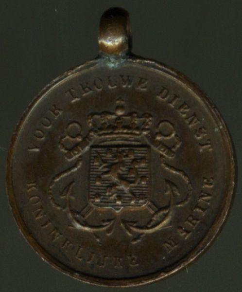 Miniatur - Niederlande, Marine-Dienstauszeichnung in Bronze