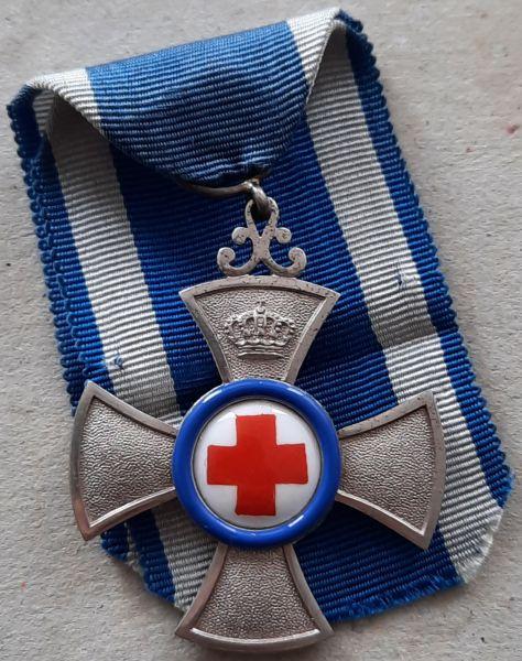 Bayern, Verdienstkreuz für freiwillige Krankenpflege - Gebr. Hemmerle / München - Prachtexemplar (!)