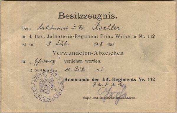 Urkundengruppe des Hauptmanns Hendrik Köhler (WK1 & WK2)