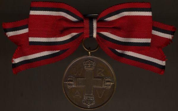 Preußen, Rote-Kreuzmedaille 3. Klasse an Damenschleife - Prachtexemplar (!)