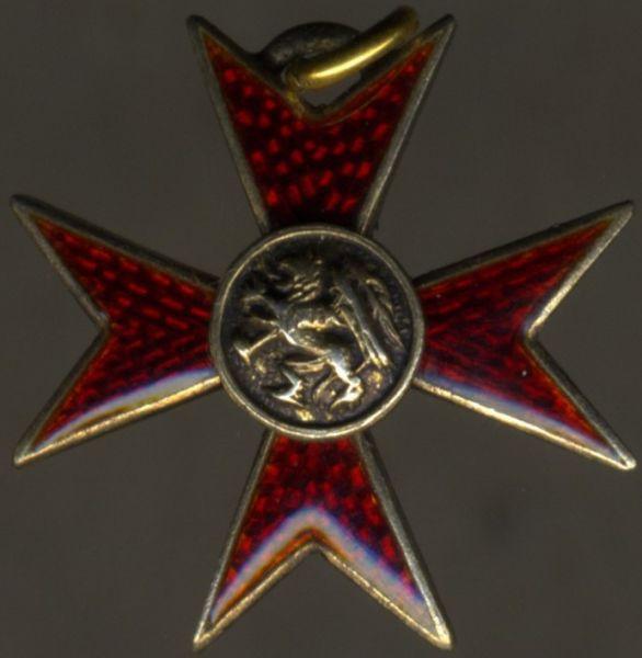 Miniatur - Mecklenburg-Schwerin, Greifenorden Offizier-Steckkreuz / Ehrenkreuz