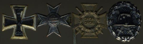 4er Miniaturenspange mit Preußen, Verdienstkreuz für Kriegshilfsdienst