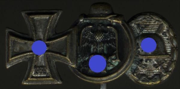 """3er Miniaturenspange - Steinhauer & Lück / Lüdenscheid - """"L/16"""""""