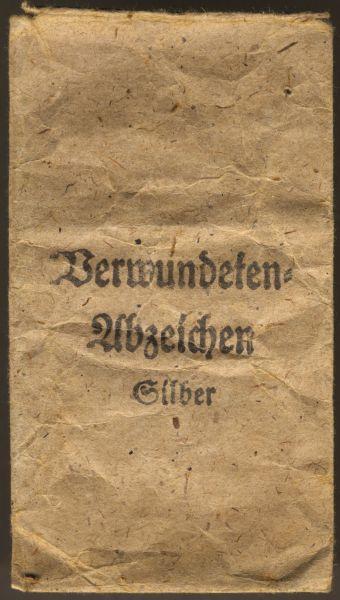 Tüte zum Verwundetenabzeichen 1939 in Silber - Hauptmünzamt Wien