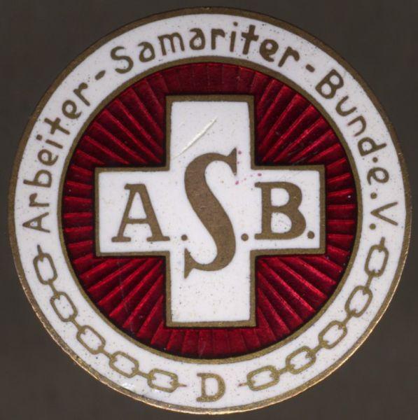 Arbeiter-Samariter-Bund-Mitgliedsabzeichen - A. Sturm / Allrode im Harz