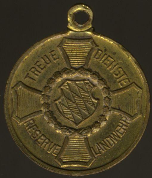 Miniatur - Bayern, Landwehr-Dienstauszeichnung 2. Klasse