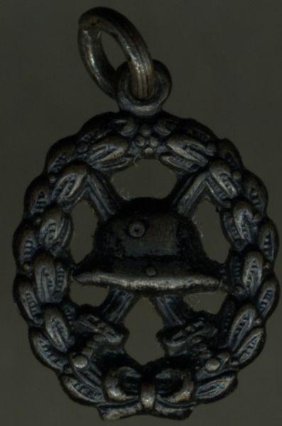 Miniatur - Verwundetenabzeichen 1918 in Schwarz (durchbrochen)