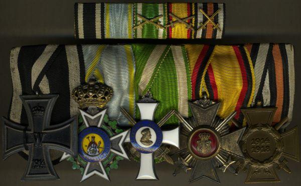 5er Ordens- & Feldschnalle mit Militär-St. Heinrichs-Orden