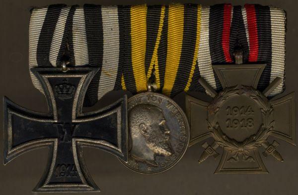 3er Ordensschnalle eines württembergischen Weltkriegsveteranen
