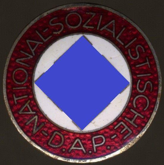 """NSDAP-Mitgliedsabzeichen / """"Parteiabzeichen"""" - Fritz Zimmermann / Stuttgart - Knopflochdekoration"""
