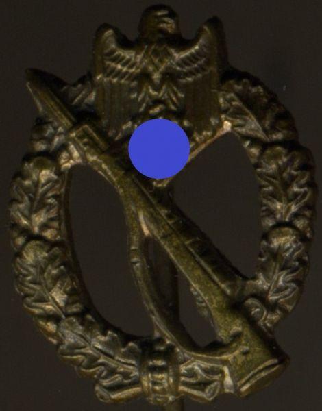 Miniatur - Infanterie-Sturmabzeichen in Bronze