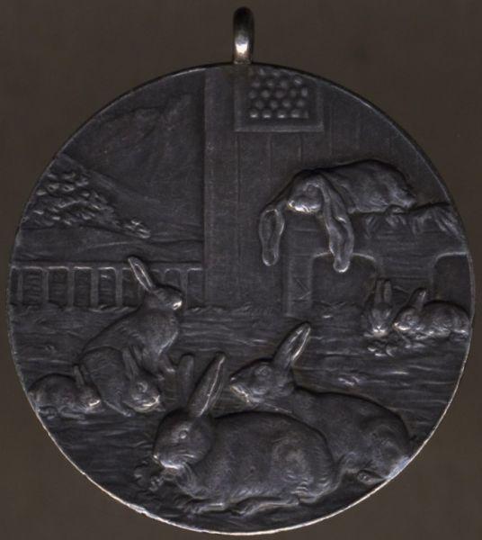 Private Preismedaille für Hasenzucht 1913