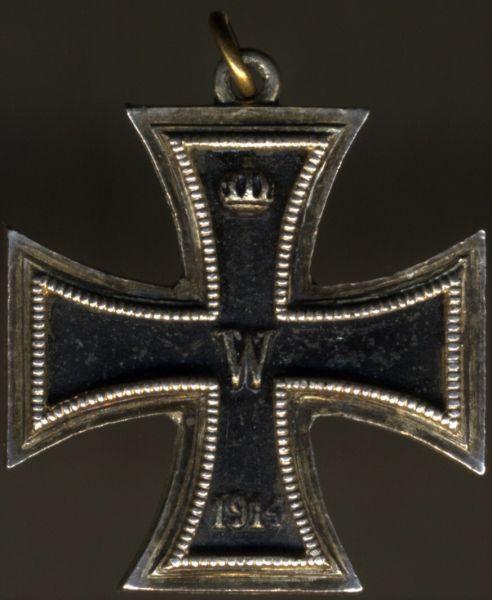 Miniatur - Eisernes Kreuz 2. Klasse 1914 - 3-teilig (!) - Godet / Berlin