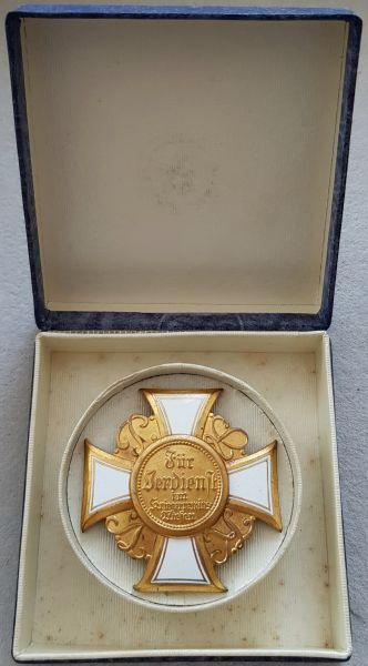 Ehrenkreuz 1. Klasse des Preußischen Landes-Kriegerverbandes mit Etui