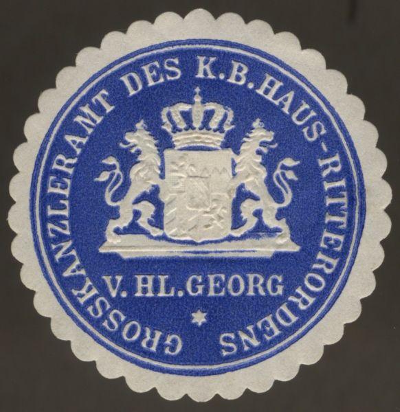 Siegelmarke des Großkanzleramts des Hausritterordens vom Hl. Georg (Bayern)