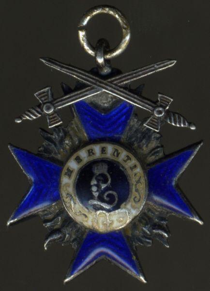 Miniatur - Bayern, Militär-Verdienstkreuz 4. Klasse mit Schwertern