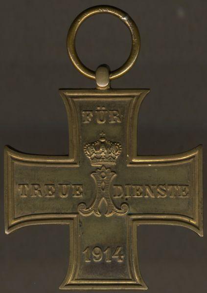 Schaumburg-Lippe, Kreuz für treue Dienste (1914)