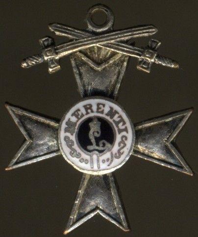 Miniatur - Bayern, MIlitär-Verdienstkreuz 2. Klasse mit Schwerten