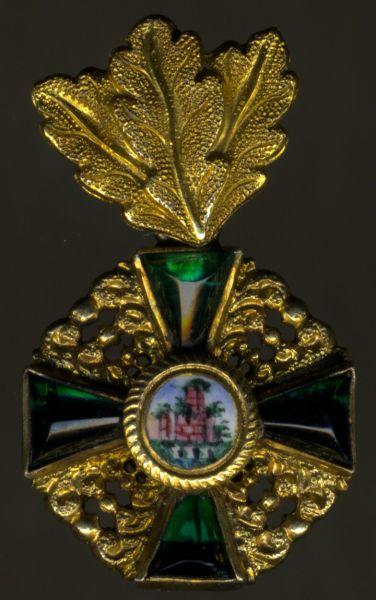 Miniatur - Baden, Orden vom Zähringer Löwen Ritterkreuz 1. Klasse mit Eichenlaub