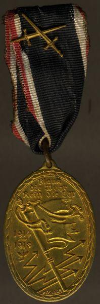 Kyffhäuserbund-Denkmünze für 1914/18 (mit Schwertern)