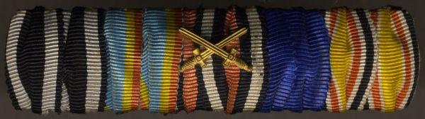 5er Feldschnalle eines Weltkriegs- & China-Veteranen